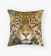"""Jaguar series # 2 - """"Boris looks me over"""" Throw Pillow"""