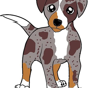 catahoula leopard dog red merle cartoon by marasdaughter