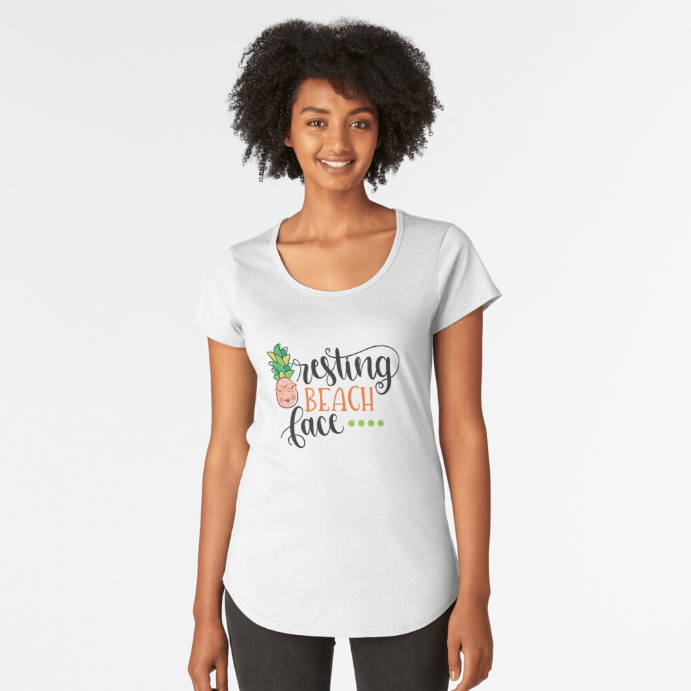 Resting Beach Face Women's Premium T-Shirt Front