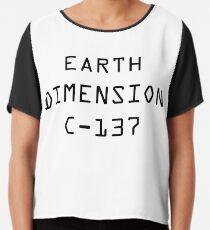 Earth Dimension C-137 Chiffon Top
