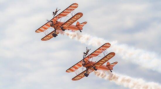 Wing Walkers  1 by Mark Liebenberg