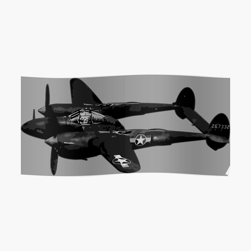 P-38 Blitz Poster