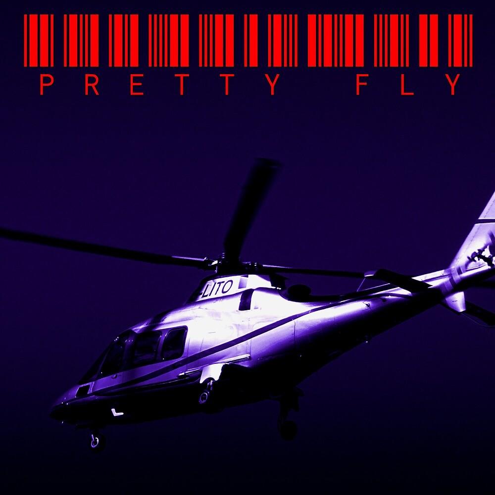 Pretty Fly - fake rap album cover by Shrief Fadl