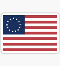 The Betsy Ross Flag 13 Colonies Patriots Revolutionary War Sticker
