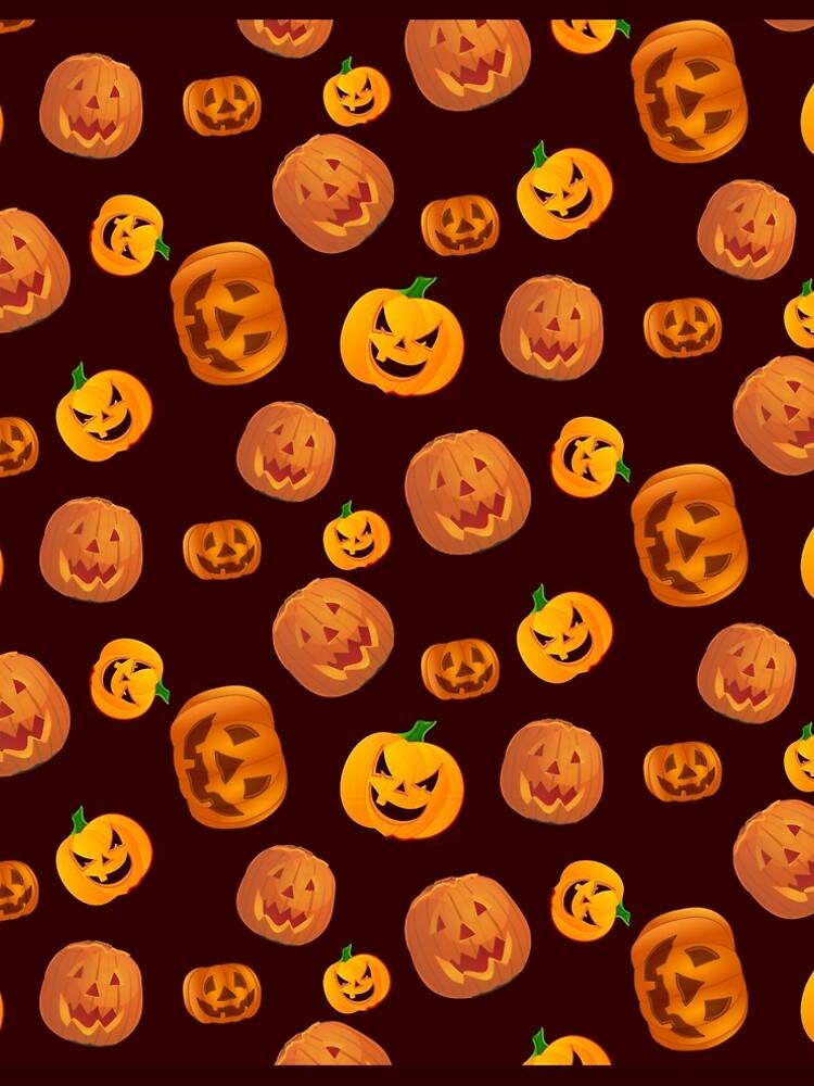 Halloween Jack-O-Lantern Pumpkin Pattern by YLGraphics