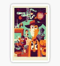 Toy Story - Retro Poster Sticker
