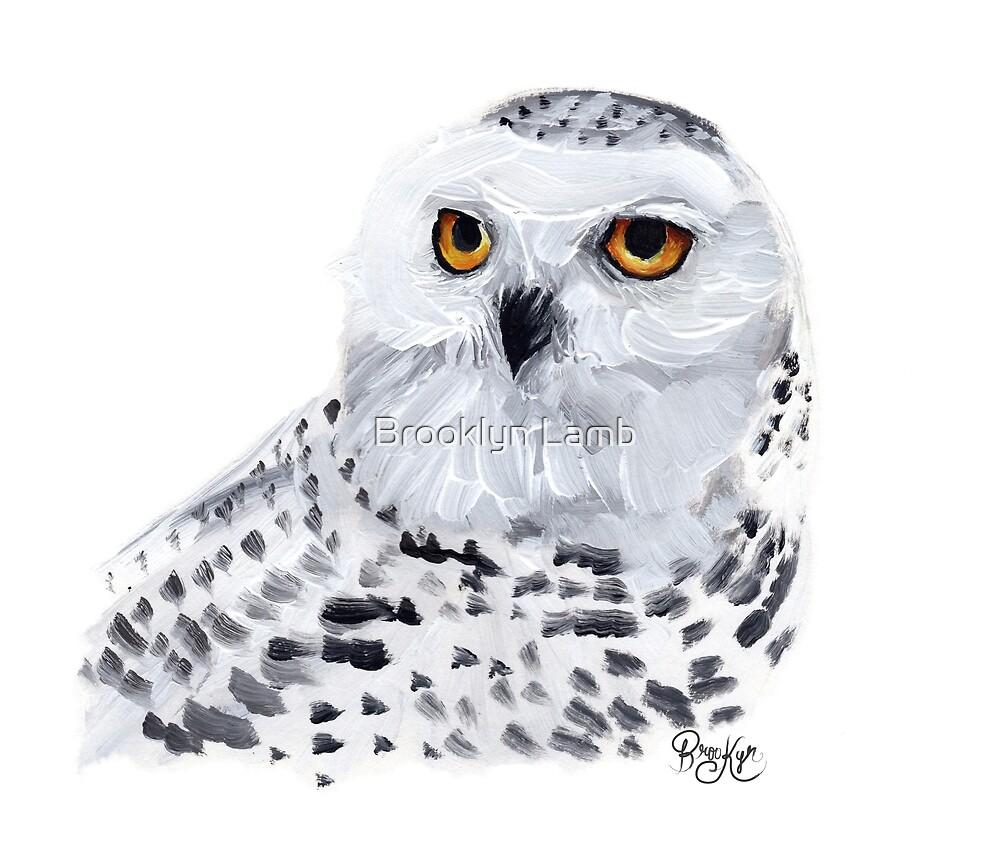 Snowy Owl by Brooklyn Lamb