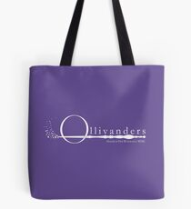 Ollivanders Logo in Weiß Tote Bag