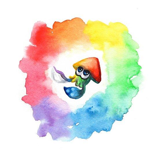 Be Proud, Squid Kid - Rainbow Pride Inkling by fugitiverabbit