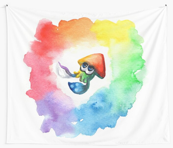 Be Proud, Squid Kid - Rainbow Pride Inkling by fugitiverabbit