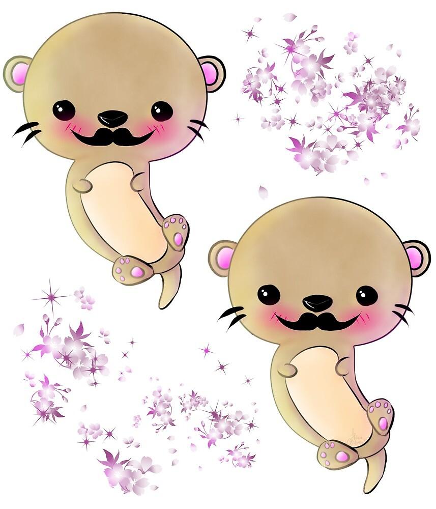 Otter-rific mustache by Hikarimitsuko