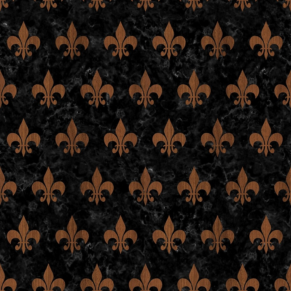 ROYAL1 BLACK MARBLE & BROWN WOOD (R) by johnhunternance