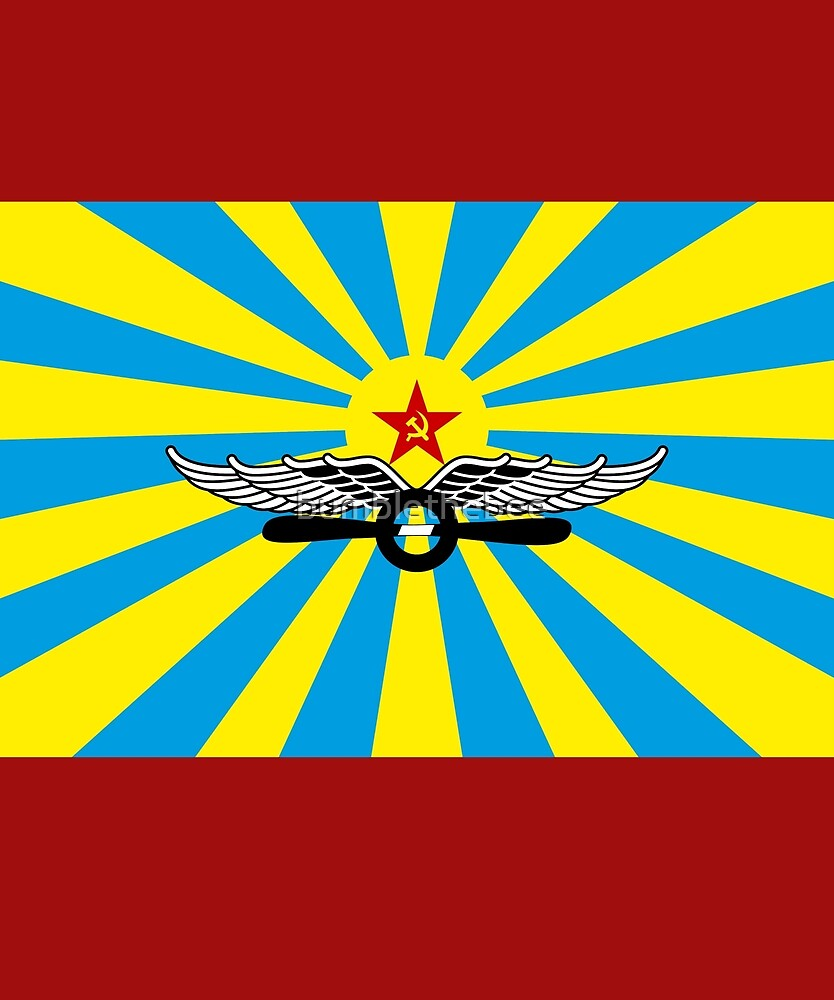Flag of the Soviet Air Force by bumblethebee