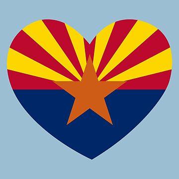 Arizona Flag Heart by rubina