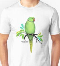 Green Indian Ringneck Parrot Unisex T-Shirt