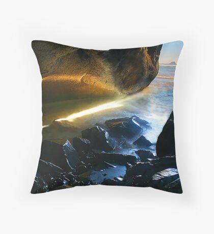 Hug Point Cavern Throw Pillow