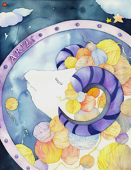 Aries: Yarn Zodiac by Ujean1974
