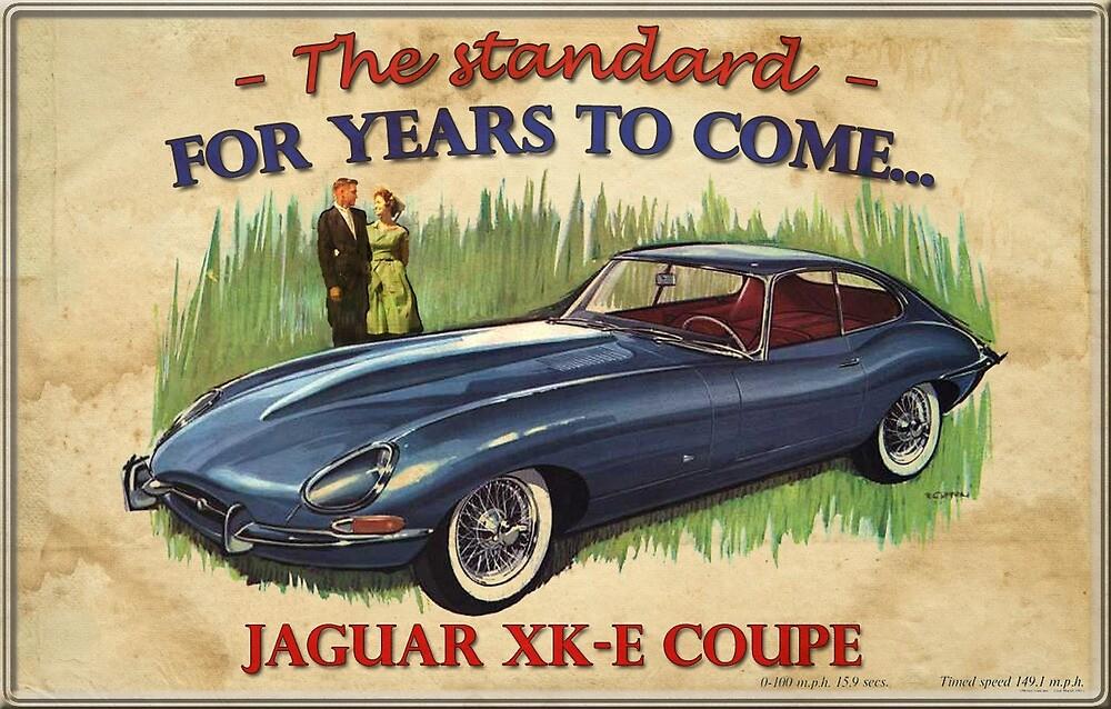 Propaganda Jaguar XK E by Storkan