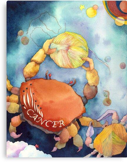 Cancer: Yarn Zodiac by Ujean1974