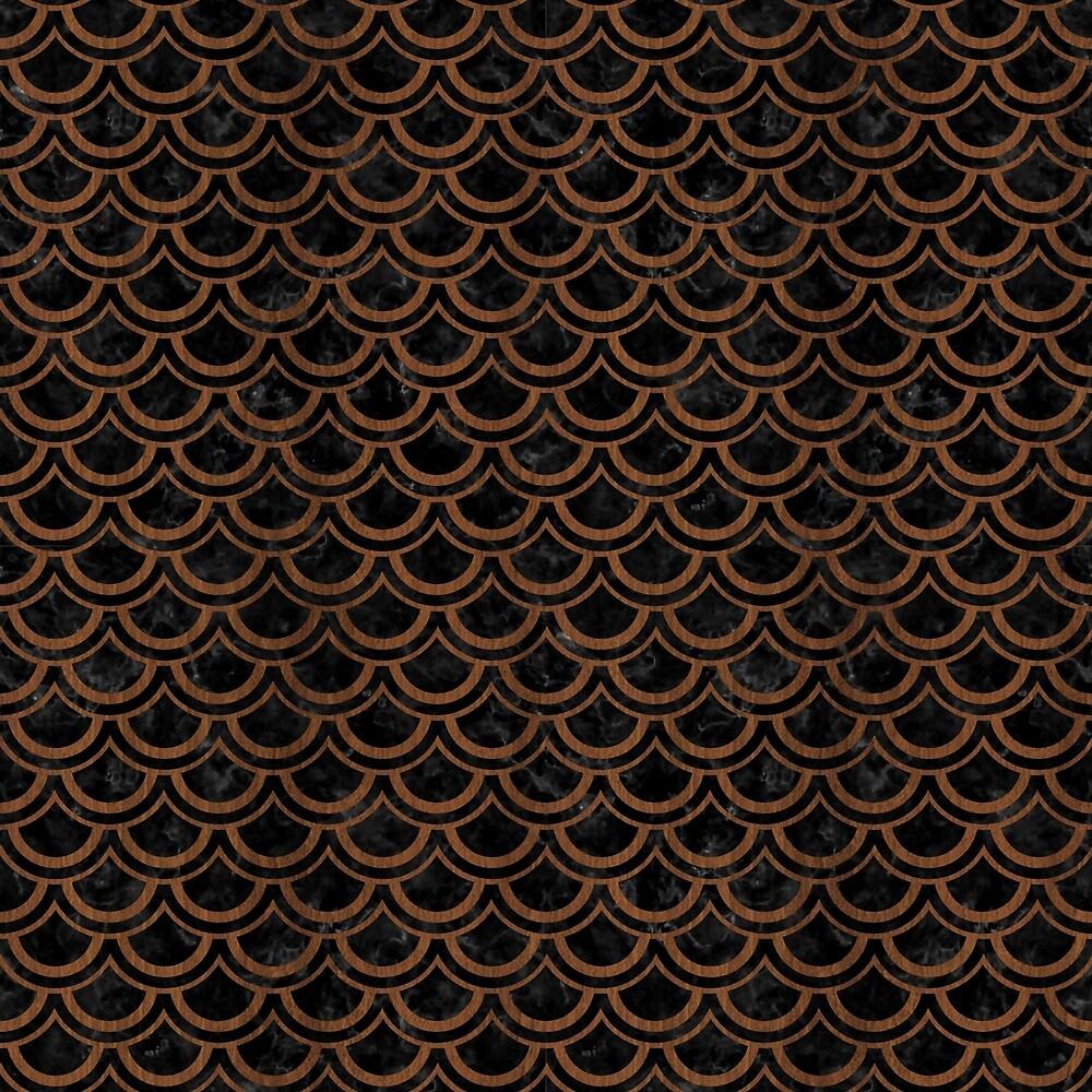 SCALES2 BLACK MARBLE & BROWN WOOD by johnhunternance