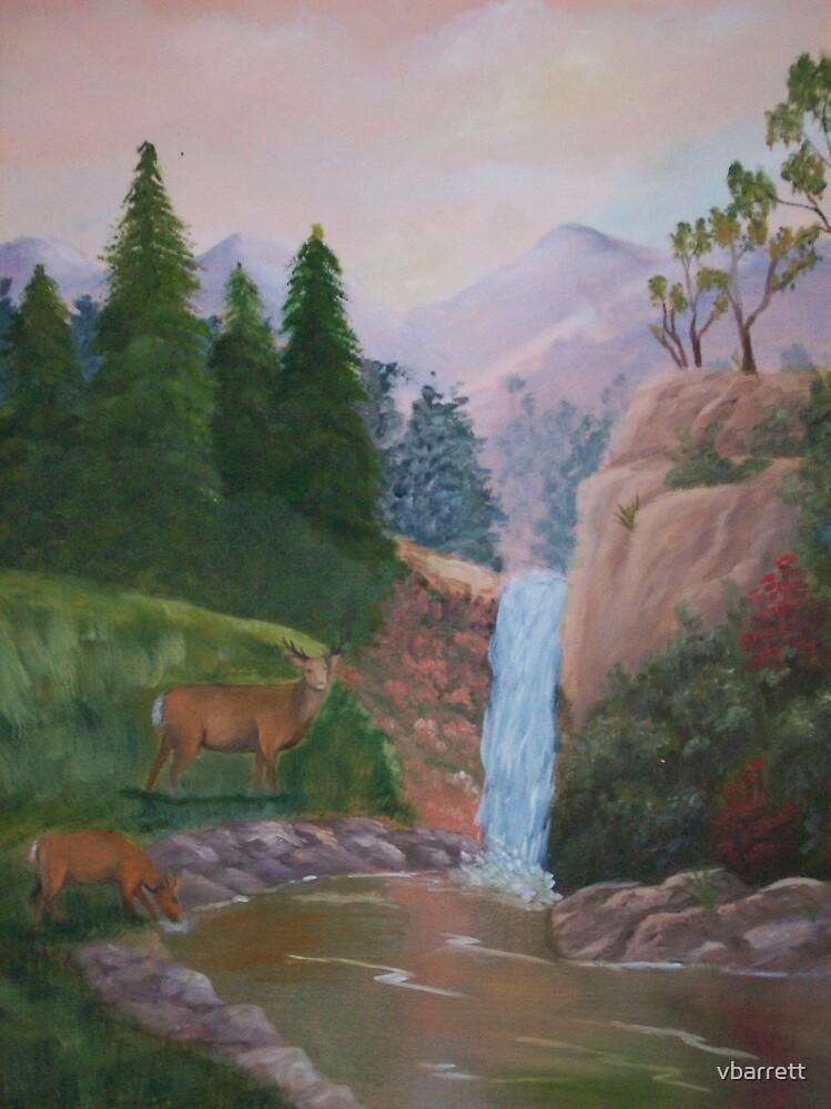 Grazing by the Waterfall by vbarrett