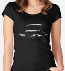 chevrolet pickup, black shirt Women's Fitted Scoop T-Shirt