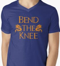 Bend The Knee Two Dragon Orange design Game of Thrones fan T-Shirt