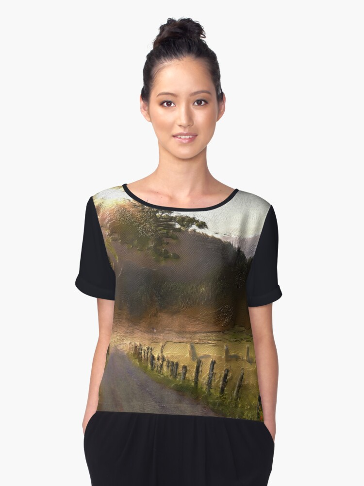 Country Road Women's Chiffon Top Front