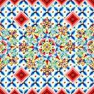 Ombre Heraldic Mandala by PatriciaSheaArt