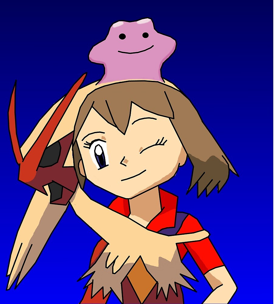 May to Blaziken Disguise with Ditto by StuartGunn3173