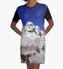 Mount Rushmore Graphic T-Shirt Dress