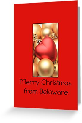 Golden Ornaments Card from Delaware by Sabbia-Natale