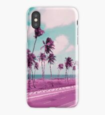 Vaporwave Sea Side Road iPhone Case/Skin