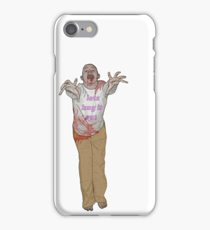 hug it out zombie iPhone Case/Skin