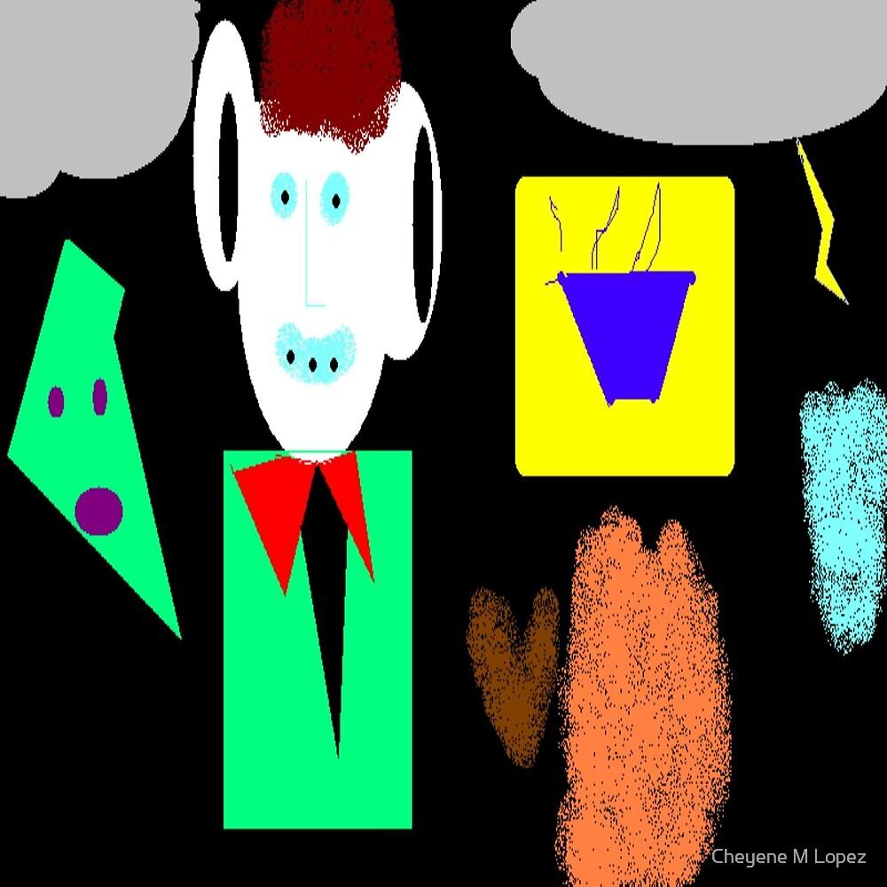 The Msee Of Me Digital Abstract Art By Cheyene Montana Lopez by Cheyene M Lopez