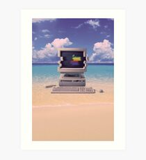 Lámina artística Vaporwave Macintosh - Sin texto