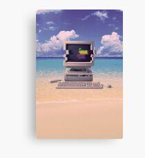 Vaporwave Macintosh - No Text Canvas Print