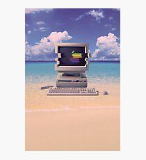 Vaporwave Macintosh - No Text Photographic Print