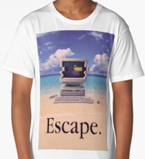 Vaporwave Macintosh Long T-Shirt