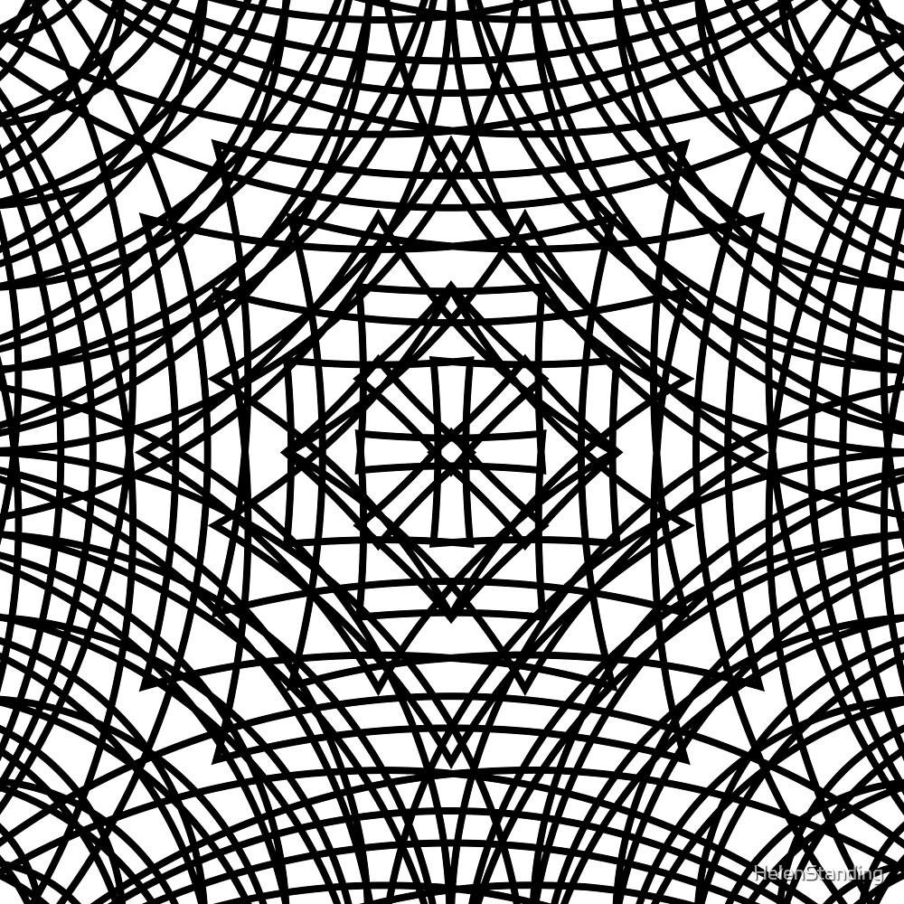 Diamond Web - Black (A1) by HelenStanding