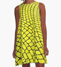 Yellow Brick Road  A-Line Dress