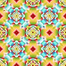 Retro Ombre Flowers (smaller version) by PatriciaSheaArt