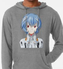 Rei Ayanami Smile Lightweight Hoodie