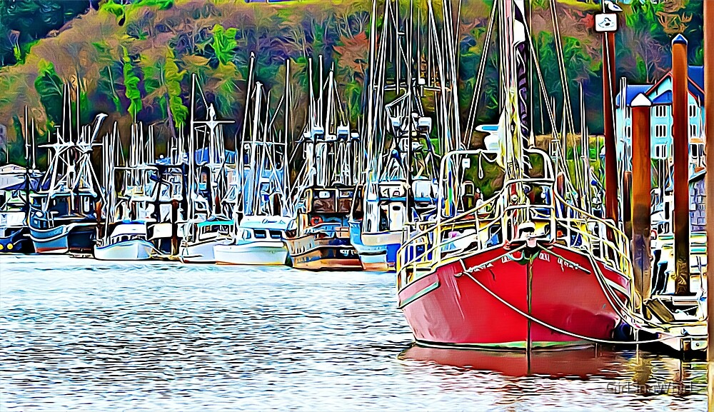 Boats on the bay by GirLinaWhirL