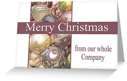 Business Christmas Card: Pastel Ornaments by Sabbia-Natale