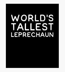 World's tallest leprechaun Photographic Print