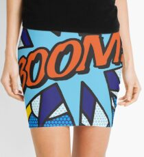Comic Book Pop Art BOOM! Mini Skirt