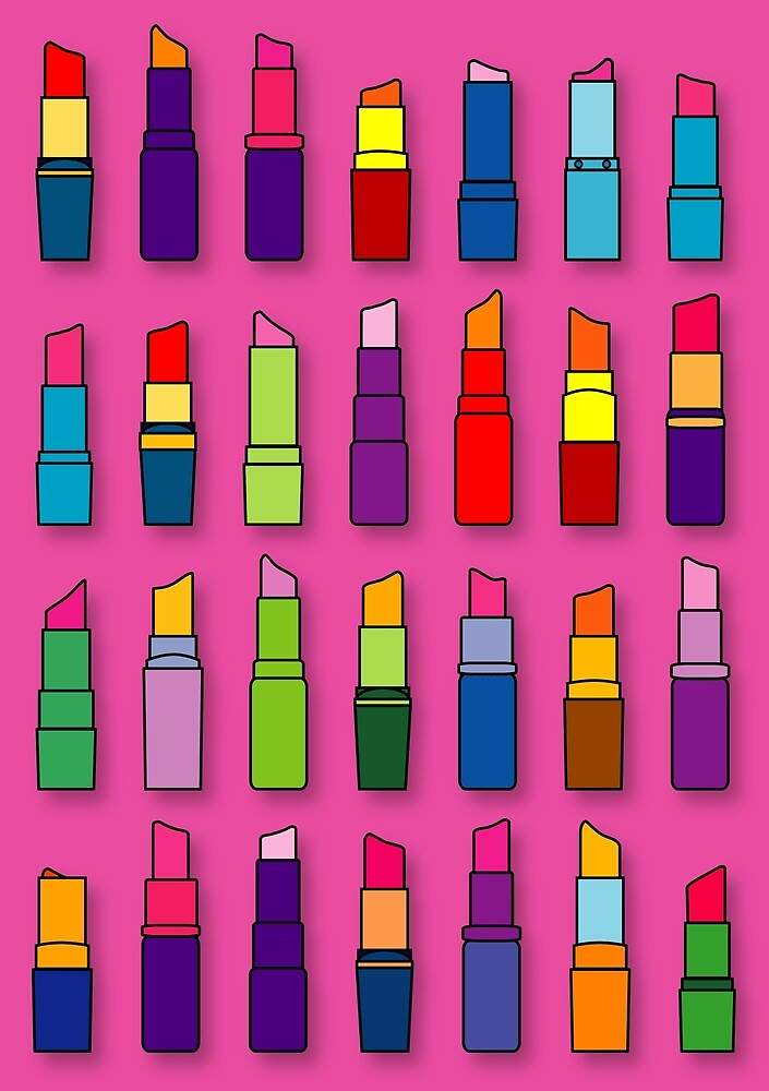 Lipsticks pattern by Thisis notme