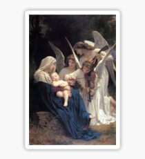Angels with Jesus and Mary Sticker