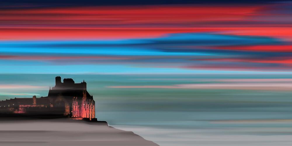Edinburgh Castle by bluefinart